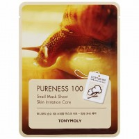 Маска для лица с улиточным муцином TONY MOLY Pureness 100 Snail Mask Sheet 21ml