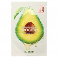 Маска тканевая с экстрактом авокадо The Saem Natural Avocado Mask Sheet 21ml