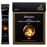 Ночной крем с икрой JMsolution Active Golden Caviar Sleeping Cream 4ml*30 pieces