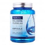 <b>FarmStay Collagen&Hyaluronic Acid All-In-One Ampoule 250ml</b><br>Сыворотка с коллагеном и гиалуроновой кислотой