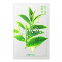 Маска тканевая с экстрактом зеленого чая the SAEM Natural Green Tea Mask Sheet 21ml