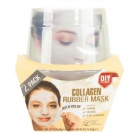 Альгинатная маска с коллагеном (пудра+активатор) Lindsay Collagen Rubber Mask (65g+6,5g)*2