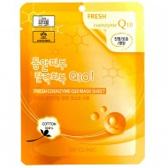 Тканевая маска для лица с коэнзимом 3W Clinic Fresh Coenzyme Q10 Mask Sheet 23ml