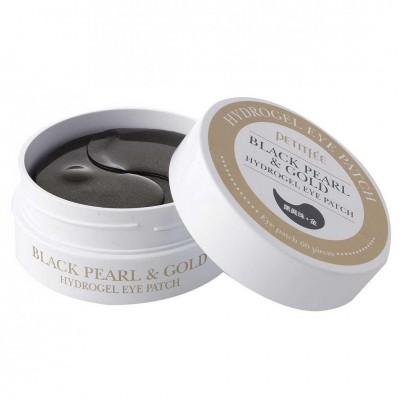 Гидрогелевые патчи для глаз Petitfee Black Pearl & Gold Eye Patch 60 pieces