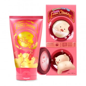 Пенка для умывания Elizavecca Clean Piggy Pinkenergy Foam Cleansing