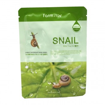 FarmStay Visible Difference Mask Sheet Snail Тканевая маска для лица с муцином улитки