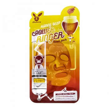 Тканевая маска с медом Elizavecca Deep Power Ringer Mask Pack Honey