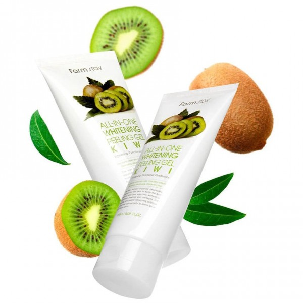 Гель c экстрактом киви FarmStay Whitening Peeling All-In-One Gel Kiwi 180ml