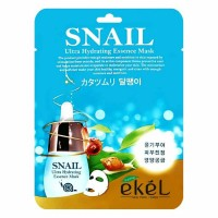 Тканевая маска для лица с муцином улитки EKEL Snail Ultra Hydrating Essence Mask 25g