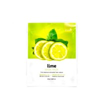 Тканевая маска для лица с экстрактом лайма Bergamo Lime Mask Pack, 28g