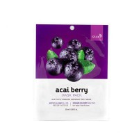 Тканевая маска для лица с экстрактом ягод асаи Bergamo Acai Berry Mask Pack, 28g