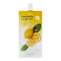 <b>Missha Pure Source Pocket Pack Lemon 10ml</b><br>Ночная маска для лица с экстрактом лимона