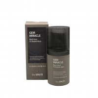 the SAEM Gem Miracle Black Pearl O2 Bubble Mask Маска кислородная с экстрактом жемчуга