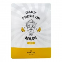 Тканевая маска для лица с экстрактом лимона VILLAGE 11 FACTORY Daily Fresh up Mask Lemon