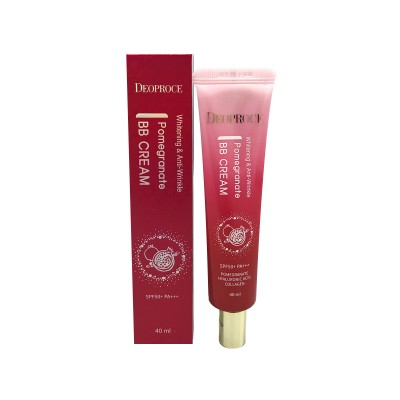 Крем ББ с экстрактом граната Deoproce Whitening and Anti-Wrinkle Pomegranate BB Cream SPF50+PA+++ 50ml