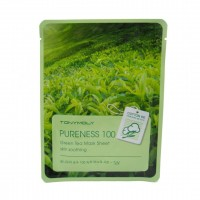Тканевая маска с экстрактом зеленого чая TONY MOLY Pureness 100 Green Tea Mask Sheet 21ml