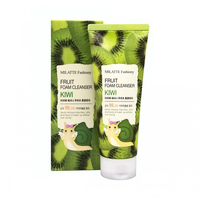Пенка для умывания c киви Milatte Fashiony Fruit Foam Cleanser Kiwi, 150ml