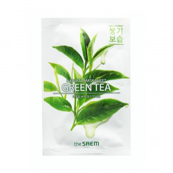 the SAEM Natural Green Tea Mask Sheet Маска тканевая с экстрактом зеленого чая