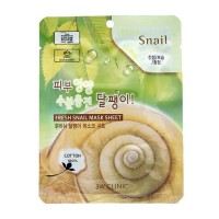 Тканевая маска для лица с муцином улитки 3W Clinic Fresh Snail Mask Sheet 23ml