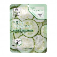 <b>3W Clinic Fresh Cucumber Mask Sheet  23ml</b>Тканевая маска для лица с экстрактом огурца