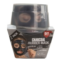 Lindsay Charcoal Rubber Mask Альгинатная маска с древесным углем (пудра+активатор) (65г + 6,5г)*2