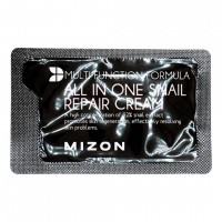 Крем для лица с муцином улитки Mizon All In One Snail Repair Сream (Pouch) 2ml