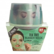 Альгинатная маска с маслом чайного дерева (пудра+активатор) Lindsay Tea Tree Rubber Mask (65g+6,5g)*2