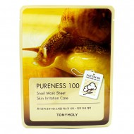 Маска для лица с улиточным муцином TONY MOLY Pureness 100 Snail Mask Sheet