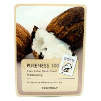 TONY MOLY Pureness 100 Shea Butter Mask Sheet Moisturizing Маска с экстрактом масла Ши