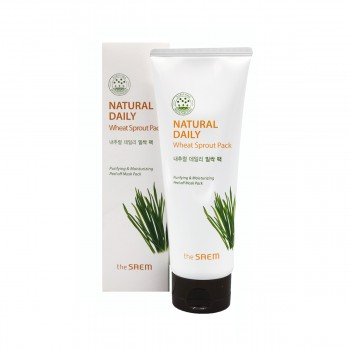the SAEM Natural Daily Wheat Sprout Pack Маска для лица пшеничная