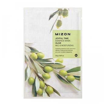 MIZON Joyful Time Essence Mask Olive Тканевая маска для лица с экстрактом оливы