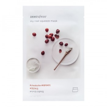 Innisfree My Real Squeeze Mask Shea Butter Маска для лица с маслом Ши