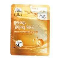 Тканевая маска для лица с коэнзимом 3W CLINIC Fresh Coenzyme Q10 Mask Sheet