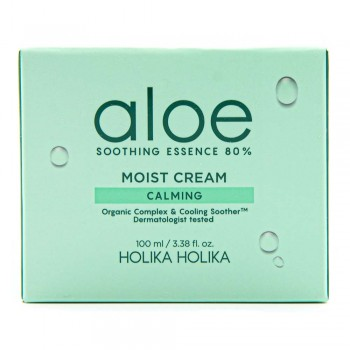 HolikaHolika Aloe Soothing Essence 80% Moist Cream Calming Увлажняющий крем для лица