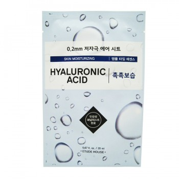 ETUDE HOUSE 0.2 Therapy Air Mask #Hyaluronic Acid Moisturizing Маска для лица тканевая с гиалуронов