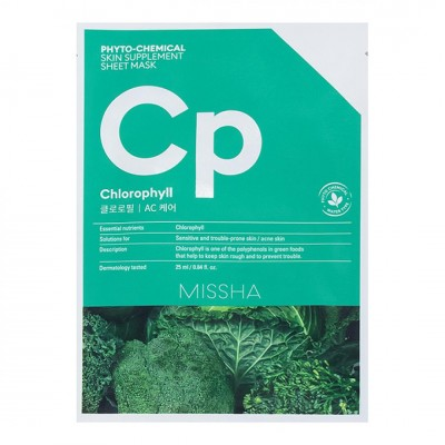Маска для лица Missha Phytochemical Skin Supplement Sheet Mask (Chlorophyll/AC Care) 25ml
