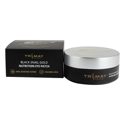 TRIMAY Black Snail Gold Nutrition Eye Patch Патчи с муцином улитки (90 Шт)