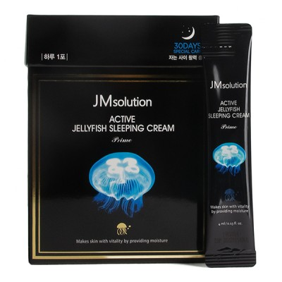 Ночной крем с медузой JMsolution Active Jellyfish Sleeping Cream 4ml*30 pieces