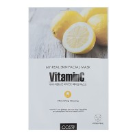 Тканевая маска для лица с витамином С и экстрактом лимона COS.W My Real Skin Vitamin C Facial Mask 23ml