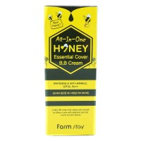 ББ крем с экстрактом меда FarmStay Honey Essential Cover All-In-One B.B Cream SPF 30/PA++ 50g