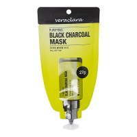 VeraClara PURIFYING BLACK CHARCOAL MASK Маска угольная очищающая (27 гр)