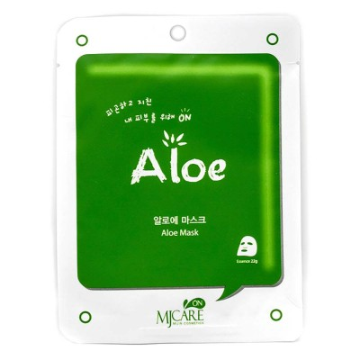 Тканевая маска с алоэ Mijin Care Aloe Mask Pack 22g
