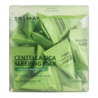 Ночная маска для лица с центеллой TRIMAY Centella Cica Sleeping Pack 3g*20 pieces
