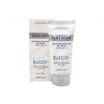 ENOUGH Collagen 3 in1 Whitening Moisture BB Сream SPF47 PA+++ ББ-крем с морским коллагеном