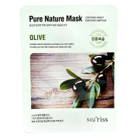Тканевая маска для лица с экстрактом оливы Anskin Secriss Pure Nature Mask Pack Olive, 25g