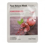 Anskin Secriss Pure Nature Mask Pack-Pomeganate Маска для лица тканевая 25мл